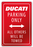 Ducati Parking wall plate