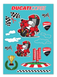 Ducati Cartoon sticker vel