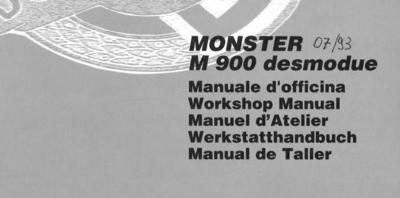 Ducati Monster 900 werkplaats handboek